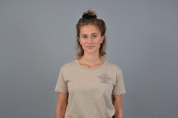 Kite Mate Women T-Shirt Beige/Black