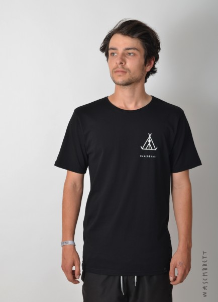 Tent Backprint T-Shirt Black/Vintage White