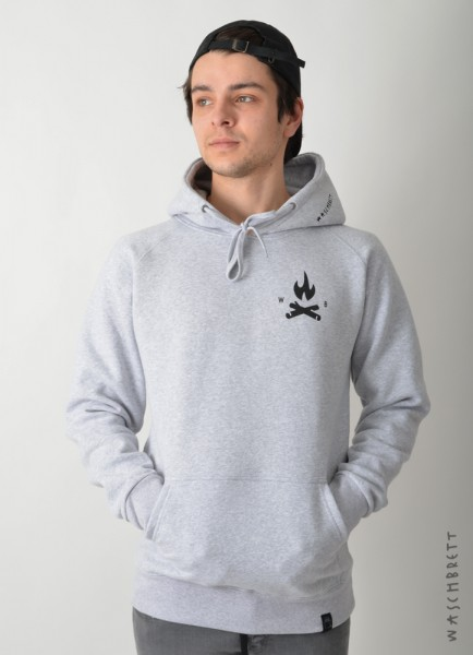 Fire Icon Backprint Hood Sportgrey/Black