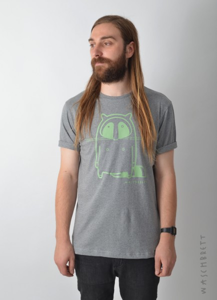 Logo T-Shirt Darkgrey Heather/Green