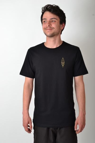Feather Backprint T-Shirt Black/Golden Yellow