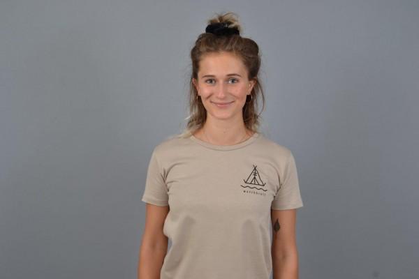 Tent Women T-Shirt Beige/Black