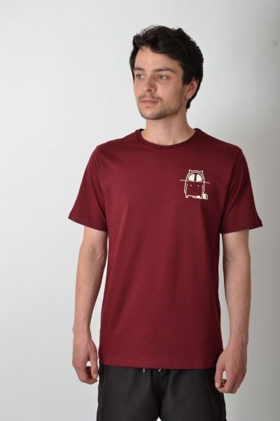 Small Logo T-Shirt Bordeaux/Vintage White