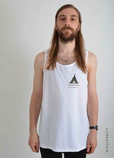 Tent Backprint Tanktop White/Black