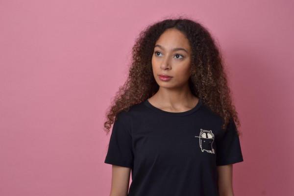 Small Logo Women T-Shirt Black/Beige