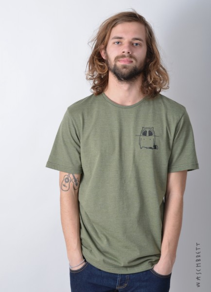 Small Logo T-Shirt Olive Heather/Black